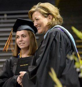 Lesley Dahlkemper at Graduation